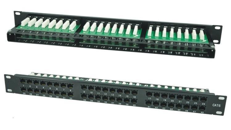 Патч-панель высокой плотности, 24/48 портов RJ-45, высота 0 Стандартный